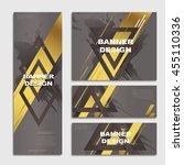 elegant banner template design...   Shutterstock .eps vector #455110336