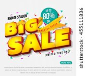 sale banner template design ...   Shutterstock .eps vector #455111836