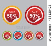 vector   sale 50  off promotion ... | Shutterstock .eps vector #455120428