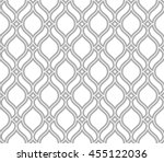 Abstract pattern in Arabian style. Seamless vector background. Grey and white texture. Graphic modern pattern.