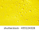 The Water Drop On Yellow...
