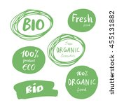 set of green logos  labels.... | Shutterstock .eps vector #455131882