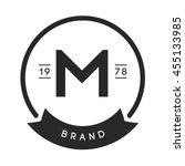 minimal letter m logo. vintage...   Shutterstock .eps vector #455133985