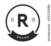 minimal letter r logo. vintage... | Shutterstock .eps vector #455133988