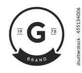 minimal letter g logo. vintage... | Shutterstock .eps vector #455134006