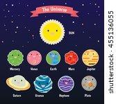 planet set for solar system   Shutterstock .eps vector #455136055