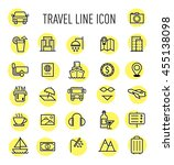 set of travel line icon... | Shutterstock .eps vector #455138098
