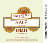 creative sale banner or sale... | Shutterstock .eps vector #455140672
