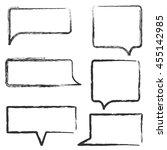 set of hand draw speech bubbles.... | Shutterstock .eps vector #455142985