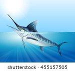 Tuna Swimming In The Sea...