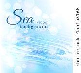 abstract blue sea bokeh... | Shutterstock .eps vector #455158168