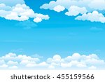 sky with clouds  on a sunny day.... | Shutterstock .eps vector #455159566
