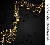 gold music notes on a solide... | Shutterstock .eps vector #455159776