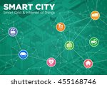smart city line drawing...