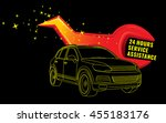 vector illustration of flash... | Shutterstock .eps vector #455183176