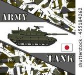 military tank japan army. armur ... | Shutterstock .eps vector #455184262