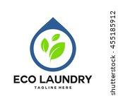 laundry  cleaning service logo... | Shutterstock .eps vector #455185912