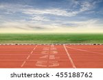 start and finish point of race... | Shutterstock . vector #455188762