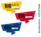 set of sale banner vector... | Shutterstock .eps vector #455192686