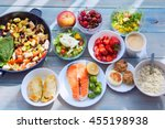 health   fitness food in lunch... | Shutterstock . vector #455198938