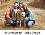 happy family during the autumn | Shutterstock . vector #455199595