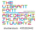 vector of stylized colorful... | Shutterstock .eps vector #455202442