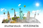 famous landmarks of the world... | Shutterstock . vector #455204656