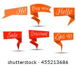 cal louts on a white background.... | Shutterstock .eps vector #455213686