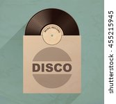 vinyl record with envelope....   Shutterstock .eps vector #455215945