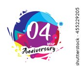 4th years greeting card... | Shutterstock .eps vector #455229205