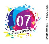 7th years greeting card... | Shutterstock .eps vector #455229238