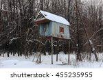 old dovecote in russia   Shutterstock . vector #455235955