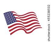 american waving flag raster...   Shutterstock . vector #455238532