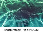 abstract polygonal space low... | Shutterstock . vector #455240032