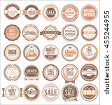 retro badges and labels... | Shutterstock .eps vector #455244955
