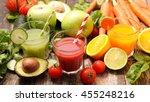 vegetable juice smoothie | Shutterstock . vector #455248216