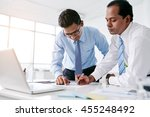 business people working... | Shutterstock . vector #455248492