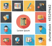 school and education icons set | Shutterstock .eps vector #455249662