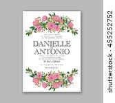 wedding invitation  thank you... | Shutterstock .eps vector #455252752