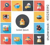 kitchen and cooking icons set | Shutterstock .eps vector #455253592
