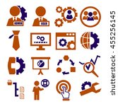 system  user  administrator... | Shutterstock .eps vector #455256145