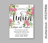 wedding invitation  with... | Shutterstock .eps vector #455259886