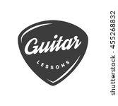 guitar lessons. retro badge ... | Shutterstock .eps vector #455268832