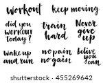 inspirational workout lettering ... | Shutterstock .eps vector #455269642