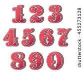 vintage ornamental numbers | Shutterstock .eps vector #455273128