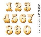 vintage ornamental numbers | Shutterstock .eps vector #455273188