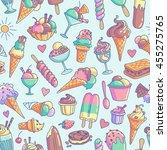 Colorful Ice Cream Seamless...