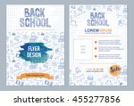 back to school flyer template... | Shutterstock .eps vector #455277856
