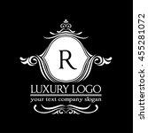 luxury logo | Shutterstock .eps vector #455281072