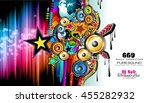 club disco flyer template with... | Shutterstock . vector #455282932